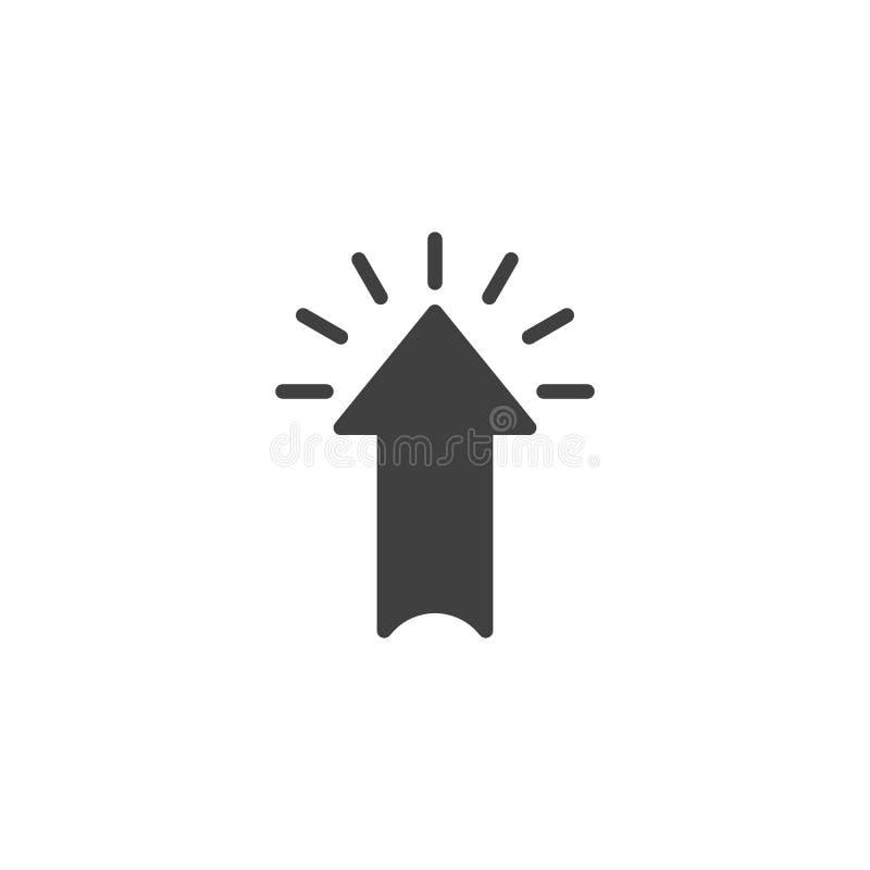Ícone do vetor do clique da seta ilustração stock