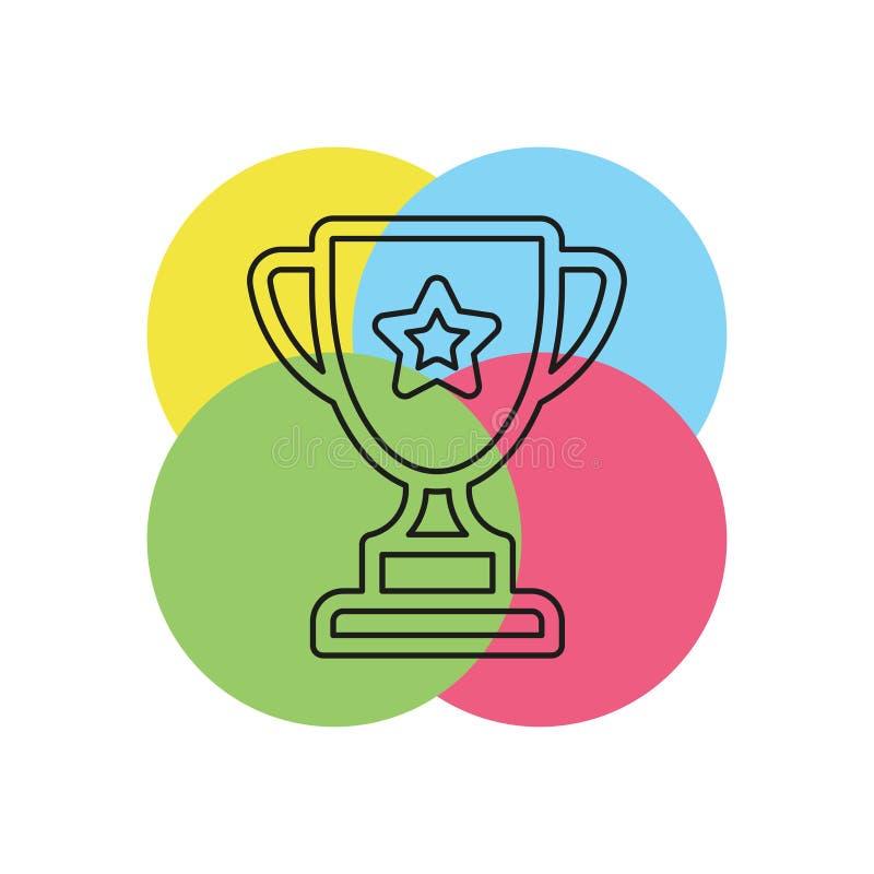Ícone do vetor do copo do troféu ilustração do vetor