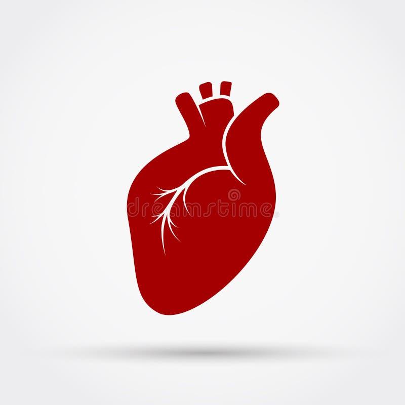 Ícone do vetor do coração ilustração royalty free