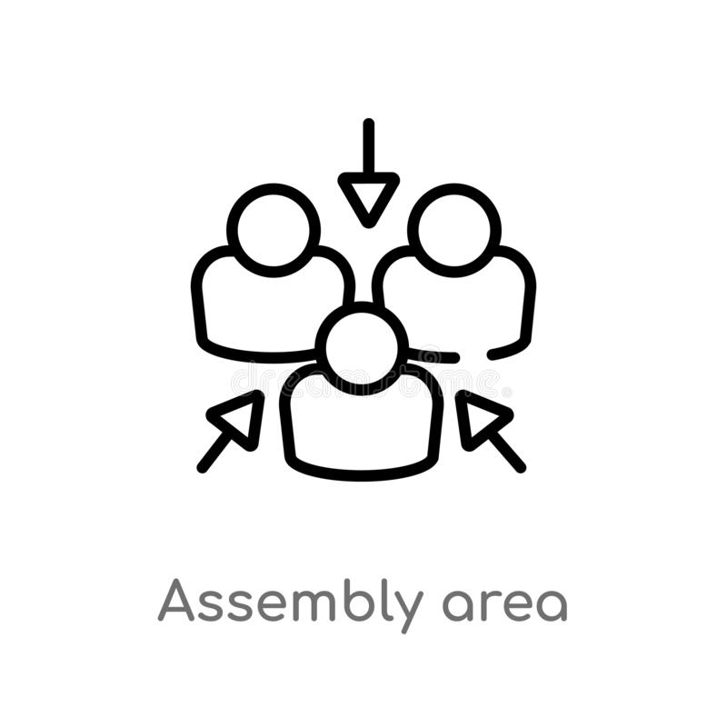 ícone do vetor da área de conjunto do esboço ilustração do vetor