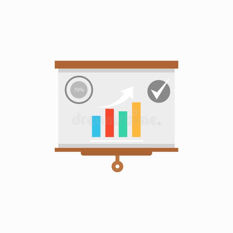 Ícone do vetor da apresentação, símbolo infographic da carta Ilustração lisa moderna, simples do vetor para a site ou app móvel V ilustração do vetor
