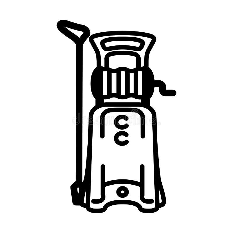 Ícone do vetor da arruela de alta pressão ilustração stock