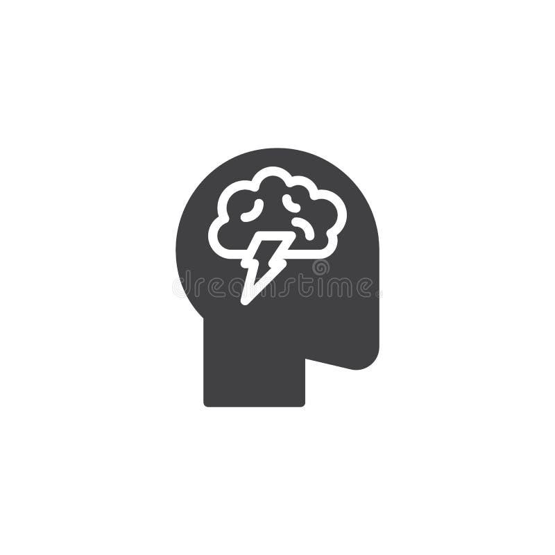 Ícone do vetor da atividade de cérebro ilustração royalty free