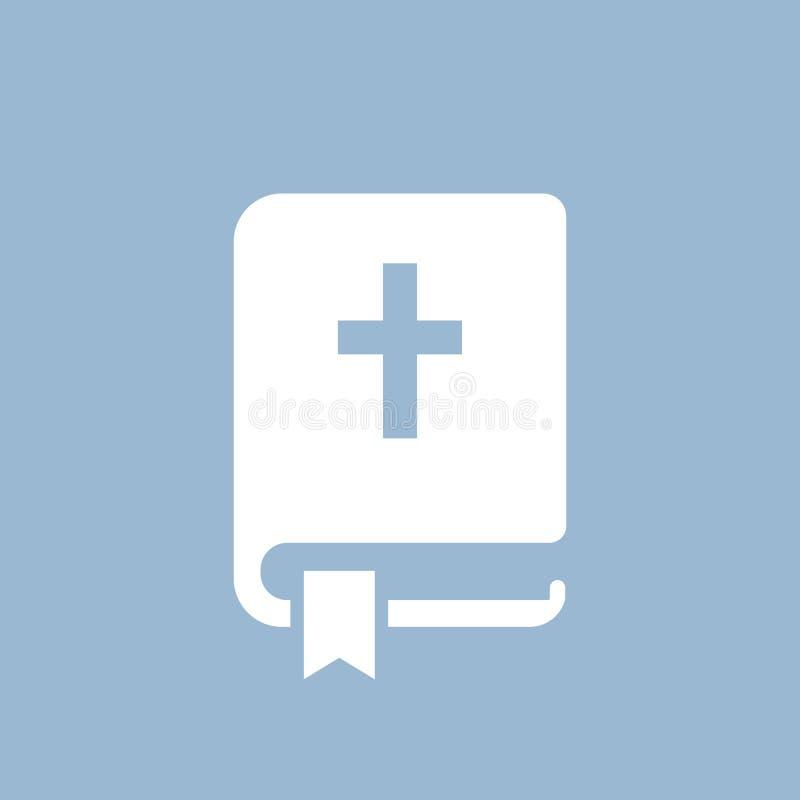 Ícone do vetor da Bíblia ilustração do vetor