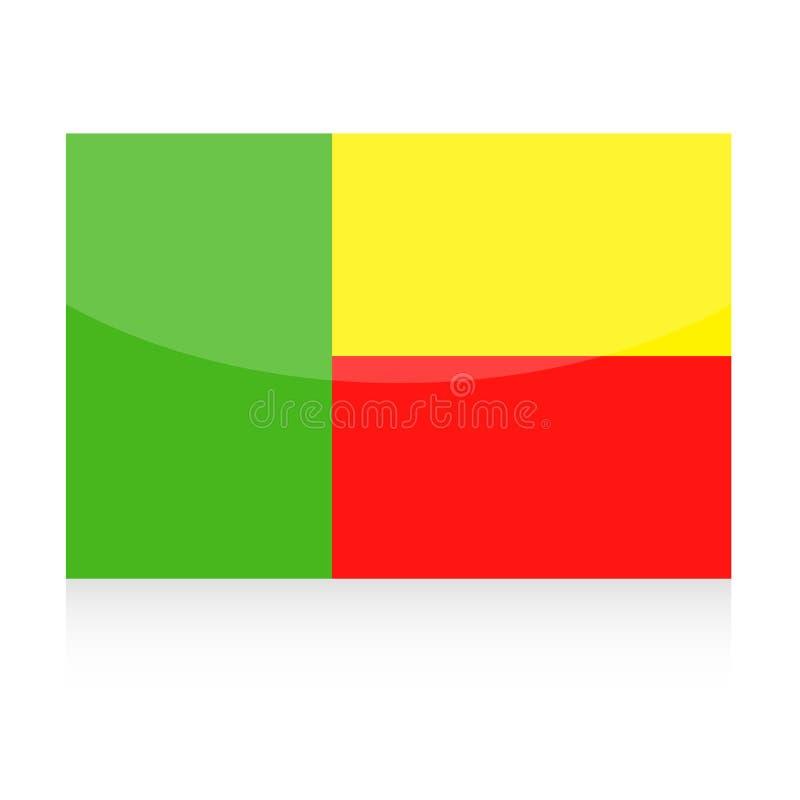 Ícone do vetor da bandeira de Benin ilustração do vetor