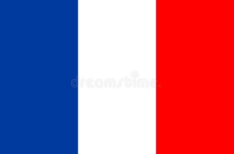 Ícone do vetor da bandeira de França Bandeira de France jogo de futebol do campeonato do mundo ilustração stock