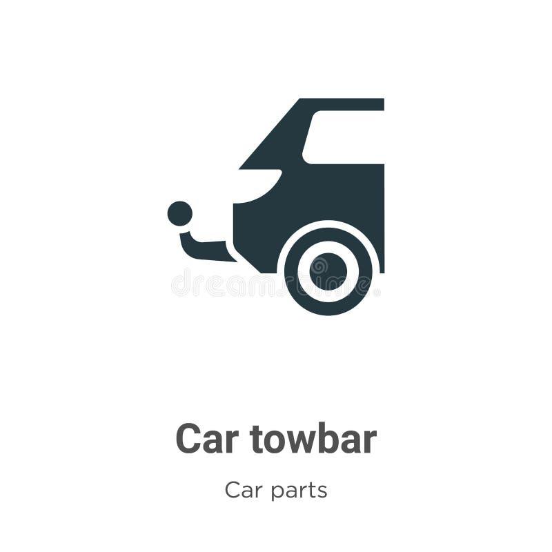 Ícone do vetor da barra em barra de carro sobre fundo branco Símbolo de ícone de barra em frente de carro de vetor plano da coleç ilustração stock