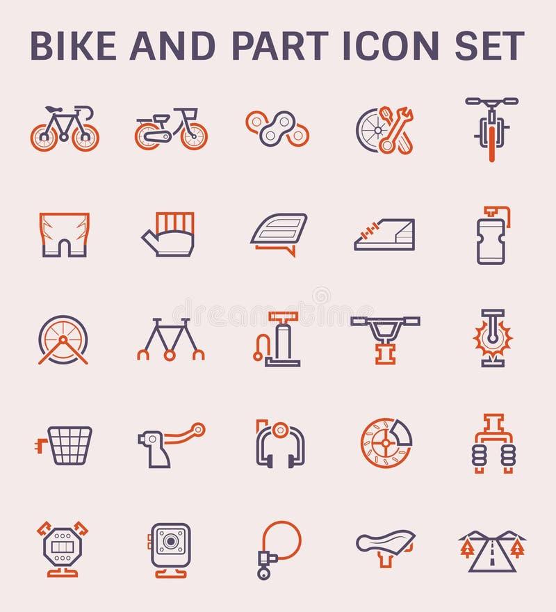 Ícone do vetor da bicicleta ilustração stock
