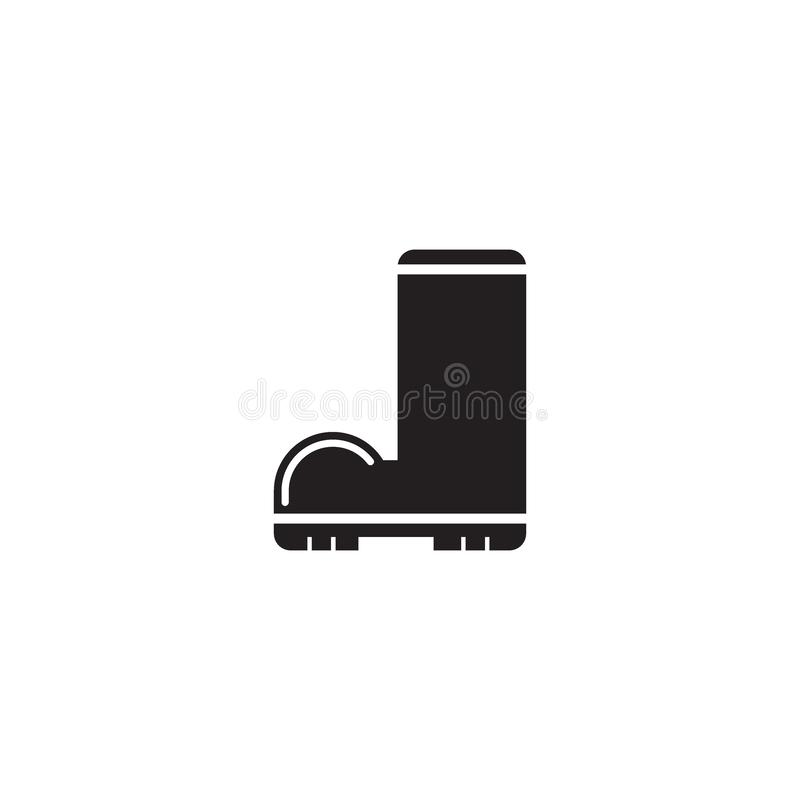 Ícone do vetor da bota de borracha imagem de stock royalty free