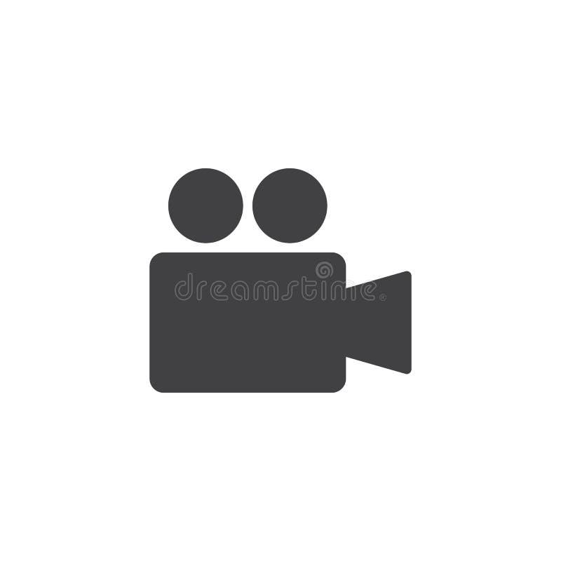 Ícone do vetor da câmara de vídeo ilustração do vetor