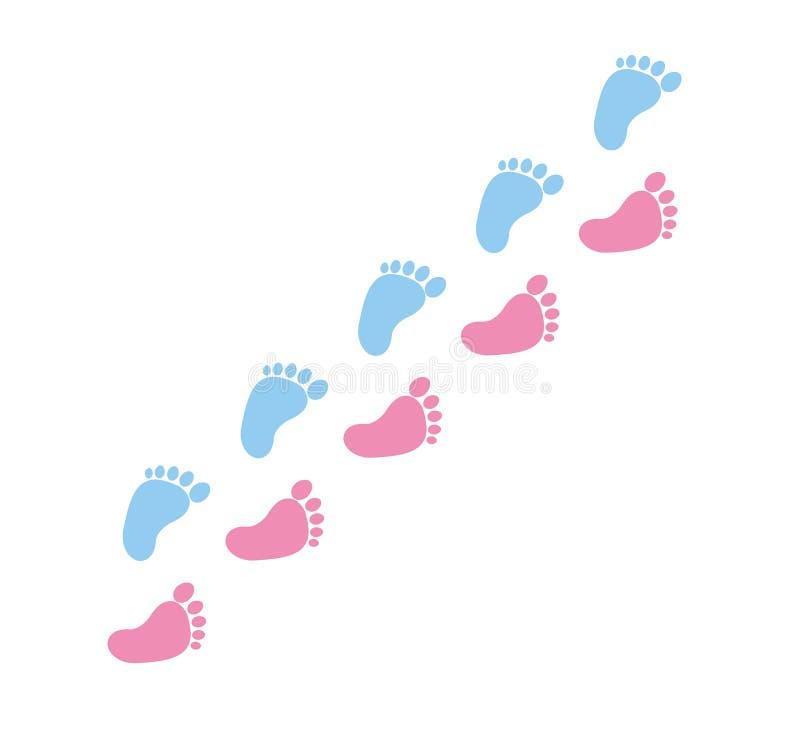 Ícone do vetor da cópia do pé, das aderências pés da ilustração do vetor ilustração stock