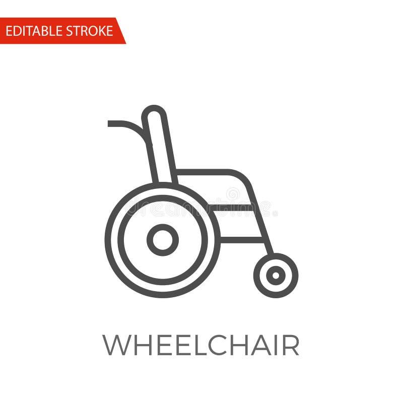 Ícone do vetor da cadeira de rodas ilustração do vetor