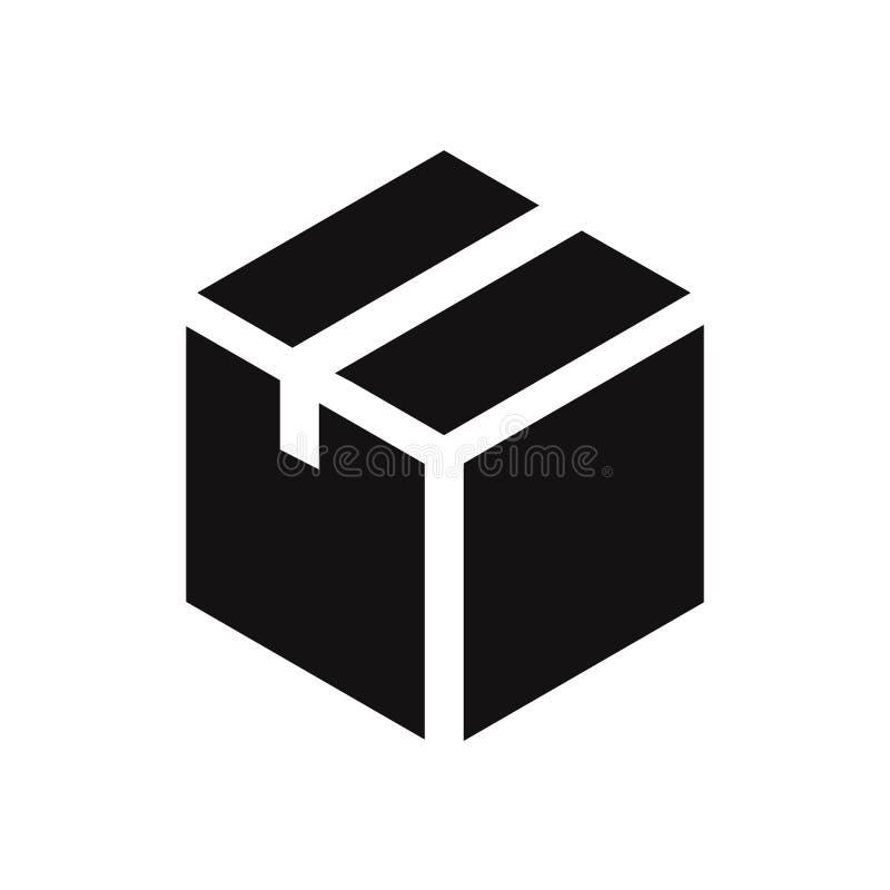 Ícone do vetor da caixa Símbolo liso moderno e simples para a site, móbil, logotipo, app, UI ilustração royalty free