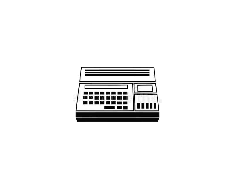 Ícone do vetor da calculadora ou símbolo da calculadora Ícone da calculadora ou pictograma da calculadora para o logotipo com cal ilustração do vetor