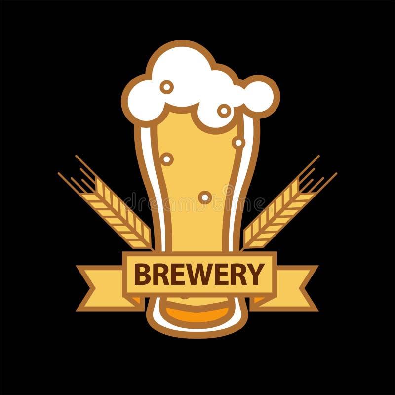 Ícone do vetor da caneca do vidro de cerveja para o bar da barra da cervejaria ou a etiqueta do produto ilustração do vetor