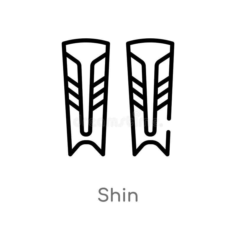 ícone do vetor da canela do esboço linha simples preta isolada ilustração do elemento do conceito do hóquei ícone editável da can ilustração royalty free
