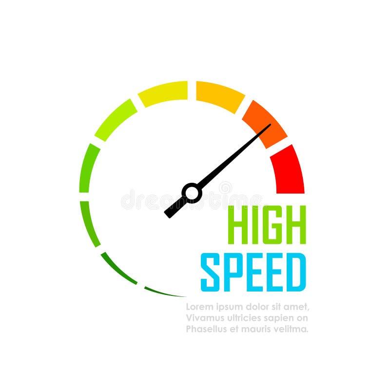 Ícone do vetor da cara do seletor do verificador da velocidade ilustração do vetor
