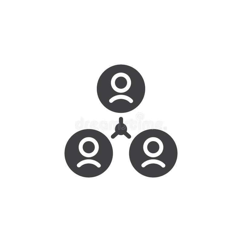 Ícone do vetor da conexão do grupo de utilizadores ilustração royalty free