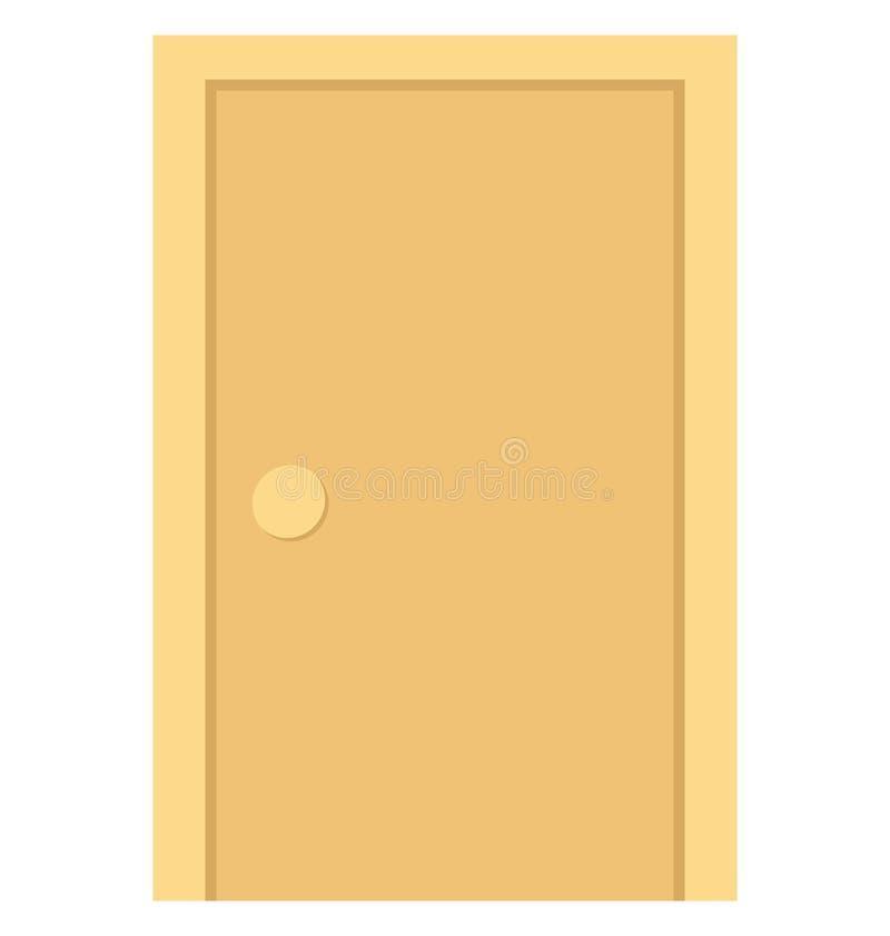 Ícone do vetor da cor da porta que pode facilmente ser alterado ou editado o ícone do vetor da cor da porta que pode facilmente s ilustração do vetor