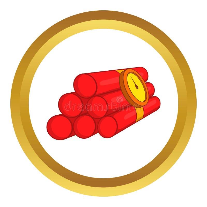 Ícone do vetor da dinamite ilustração royalty free