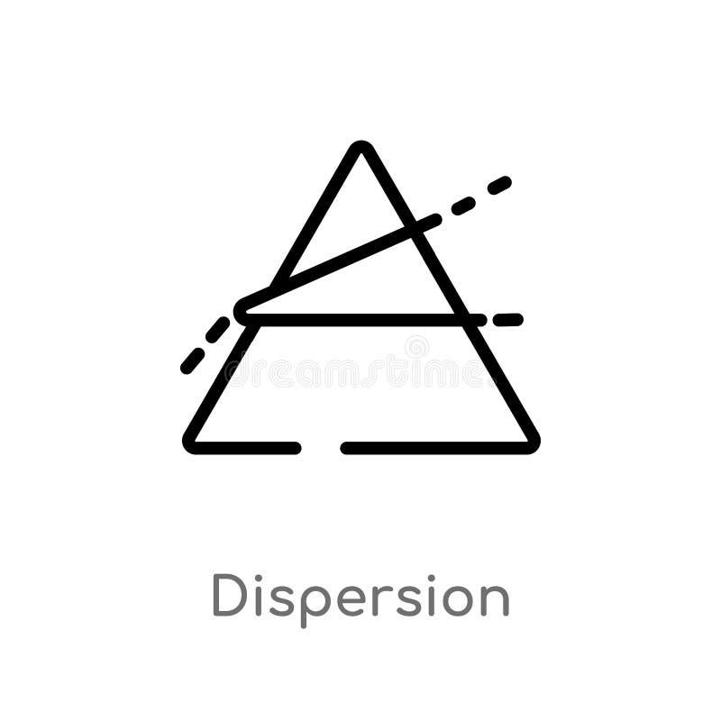 ícone do vetor da dispersão do esboço linha simples preta isolada ilustração do elemento do conceito da ciência Curso editável do ilustração royalty free