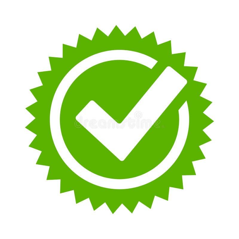 Ícone do vetor da estrela da aprovação do tiquetaque ilustração royalty free