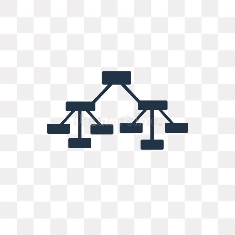 Ícone do vetor da estrutura hierárquica isolado no backg transparente ilustração royalty free