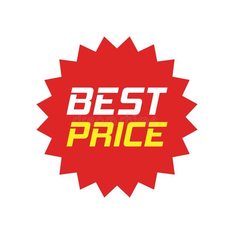 Ícone do vetor da etiqueta do disconto no estilo liso Illust do sinal da etiqueta da venda ilustração stock