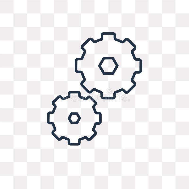 Ícone do vetor da execução isolado no fundo transparente, linear ilustração stock