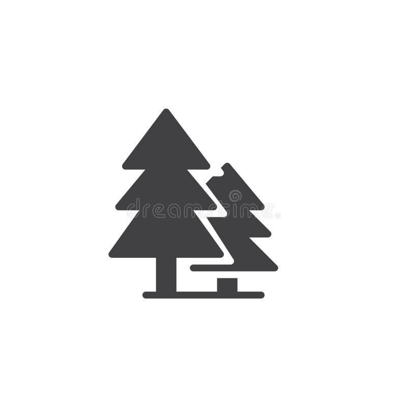 Ícone do vetor da floresta ilustração do vetor