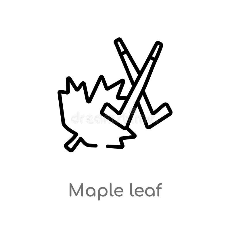 ícone do vetor da folha de bordo do esboço linha simples preta isolada ilustração do elemento do conceito do hóquei bordo editáve ilustração royalty free