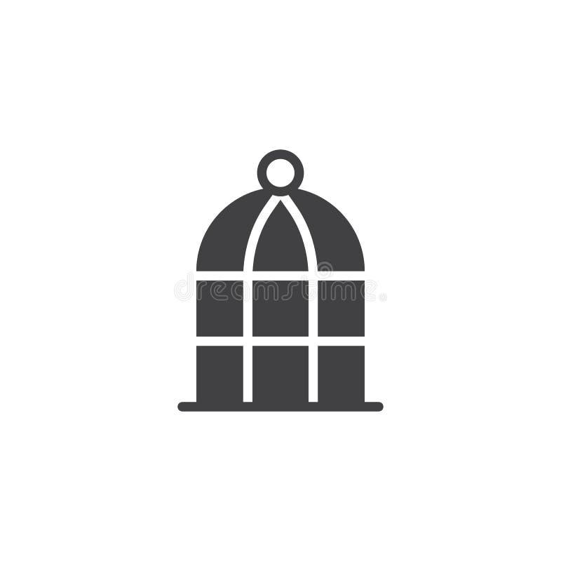 Ícone do vetor da gaiola de pássaro ilustração do vetor