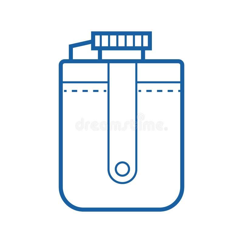 Ícone do vetor da garrafa do turista ilustração royalty free