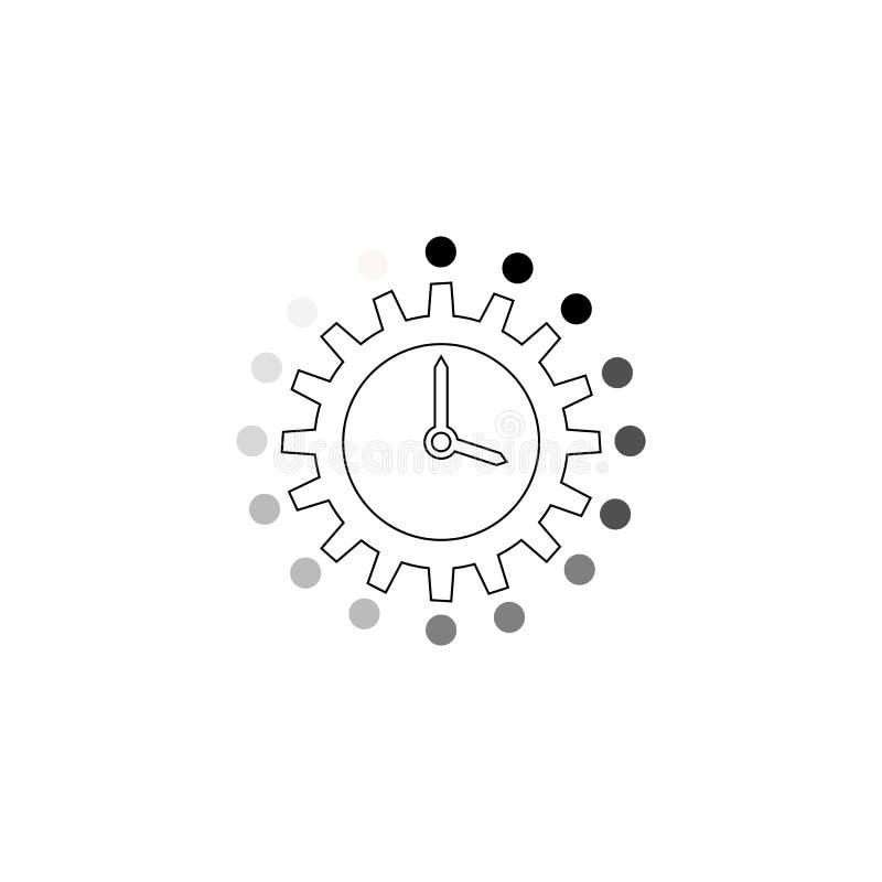 Ícone do vetor da gestão de tempo ilustração royalty free