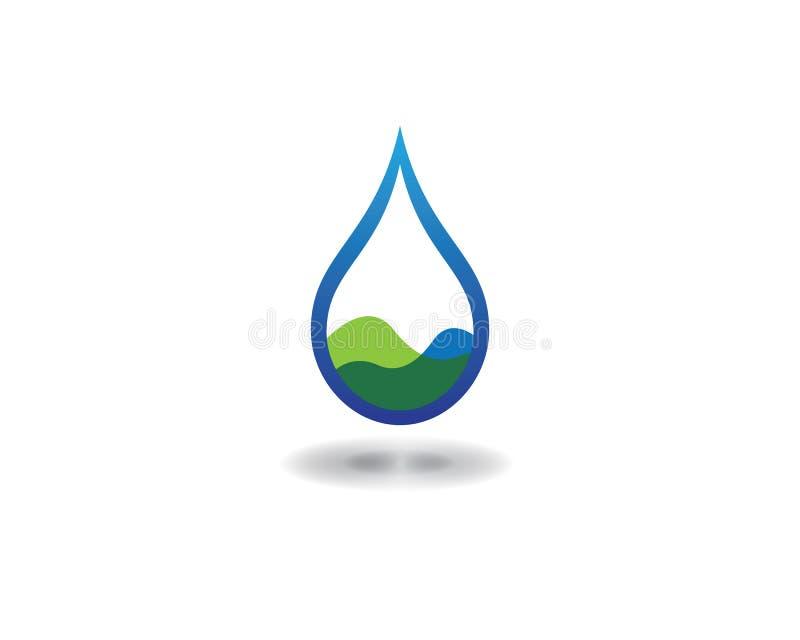 Ícone do vetor da gota da água ilustração royalty free