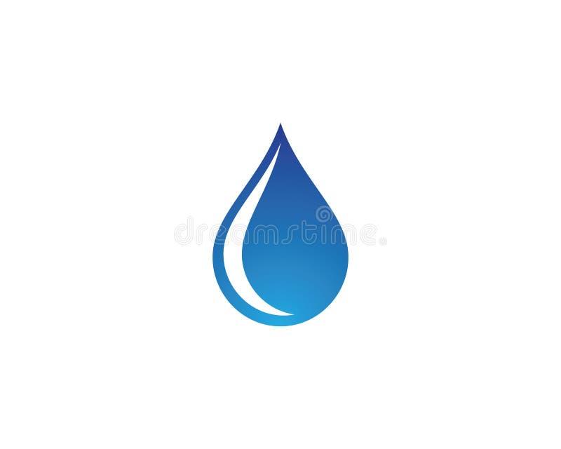 Ícone do vetor da gota da água ilustração stock