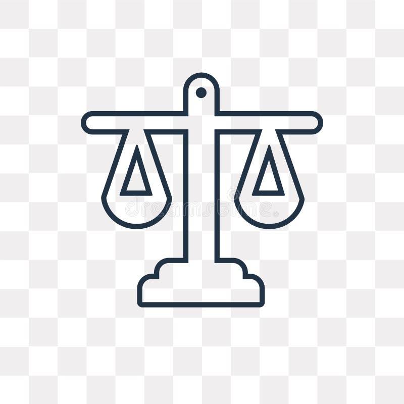 Ícone do vetor da igualdade isolado no fundo transparente, linear ilustração royalty free