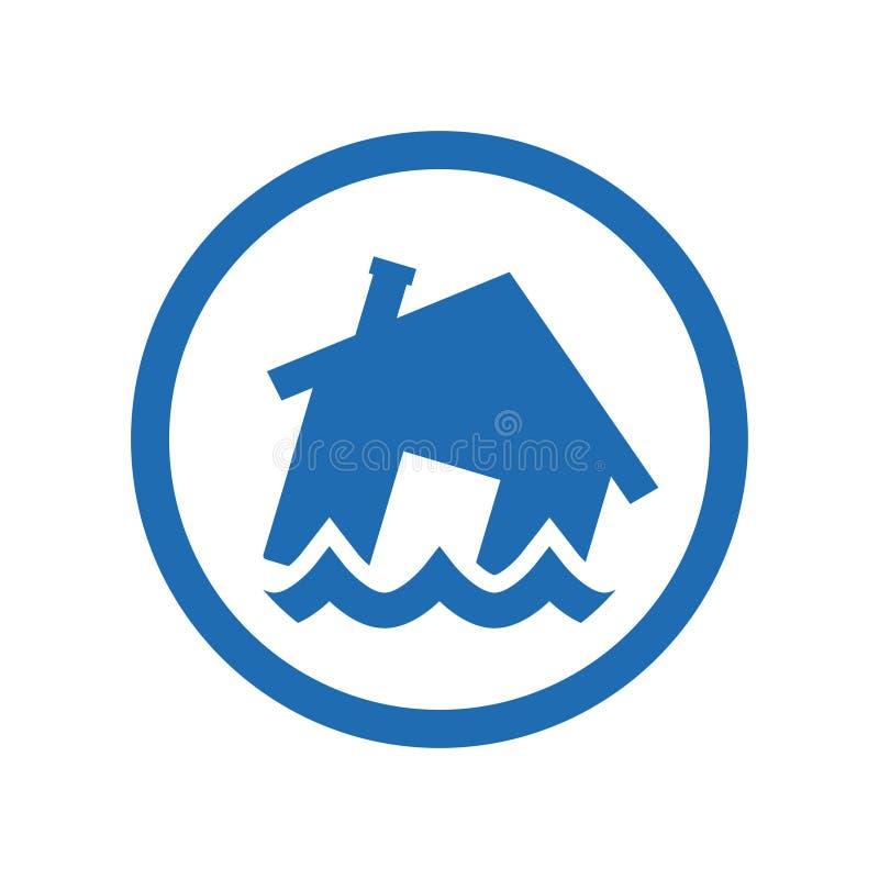 Ícone do vetor da inundação ilustração royalty free