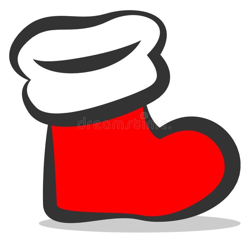 Ícone do vetor da meia do Natal ilustração do vetor