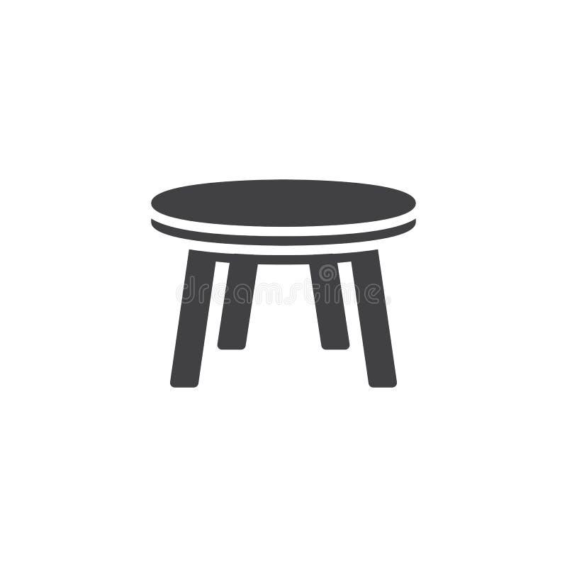 ?cone do vetor da mesa redonda ilustração royalty free