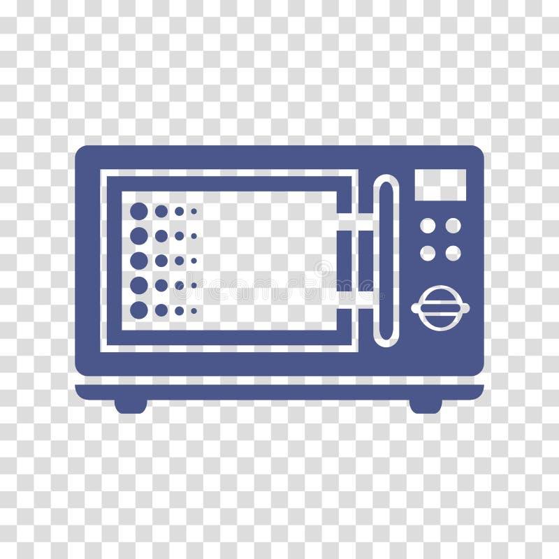 Ícone do vetor da micro-ondas ilustração stock