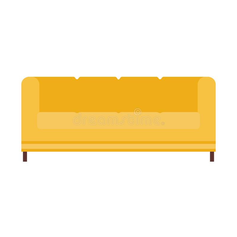 Ícone do vetor da mobília da ilustração do sofá do sofá Estilo interior da sala de visitas da casa Relaxe o assento acolhedor lis ilustração do vetor