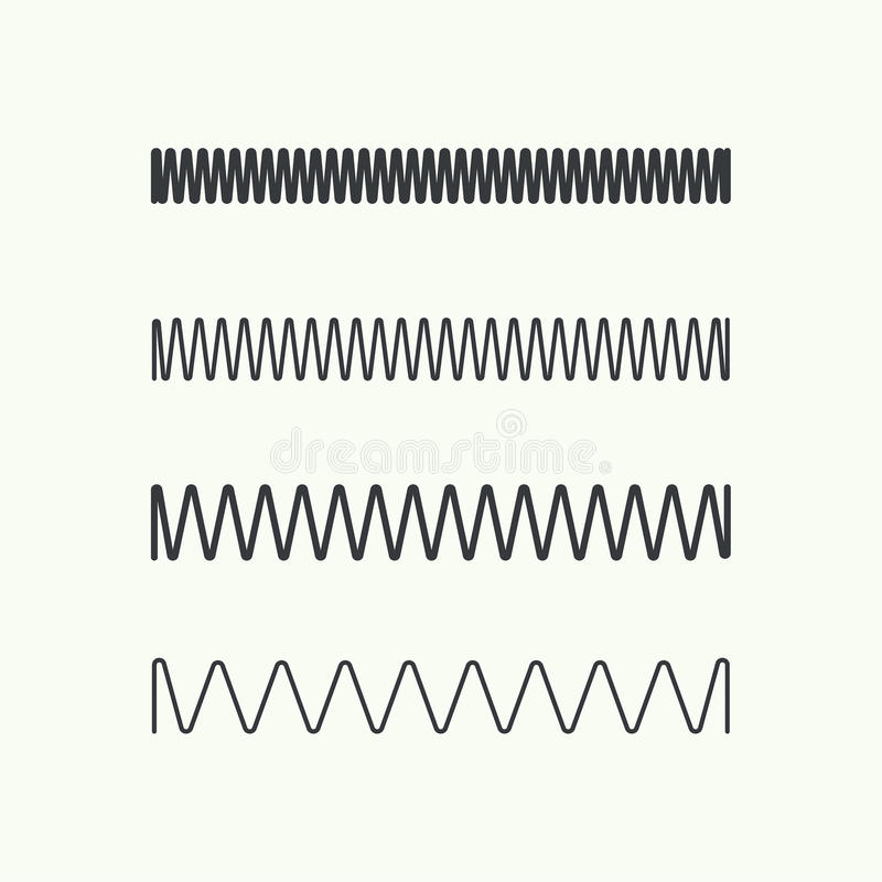 Ícone do vetor da mola de bobina ilustração stock