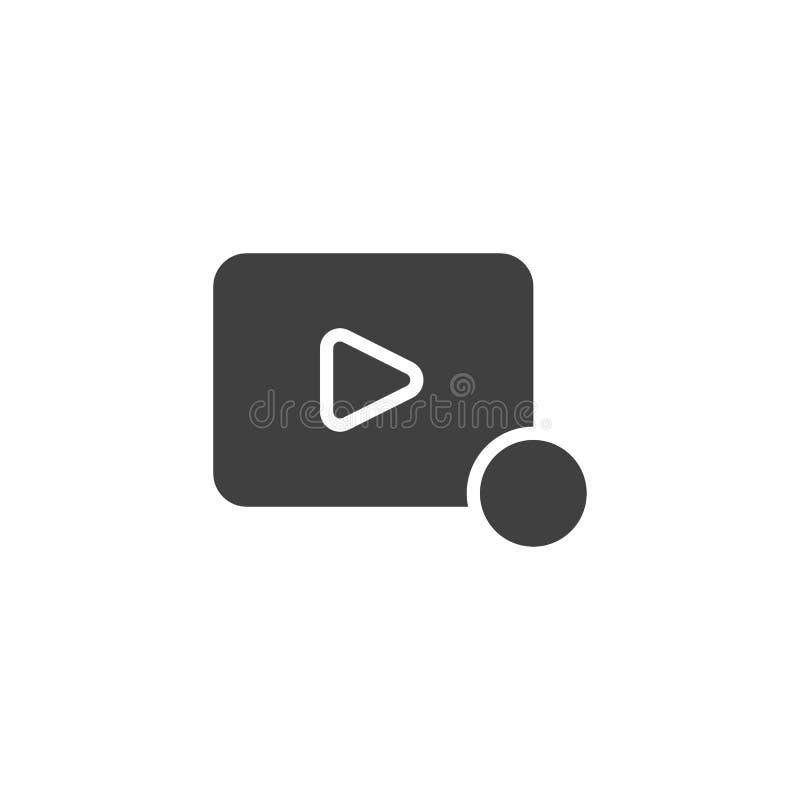 Ícone do vetor da notificação da vídeo ilustração stock