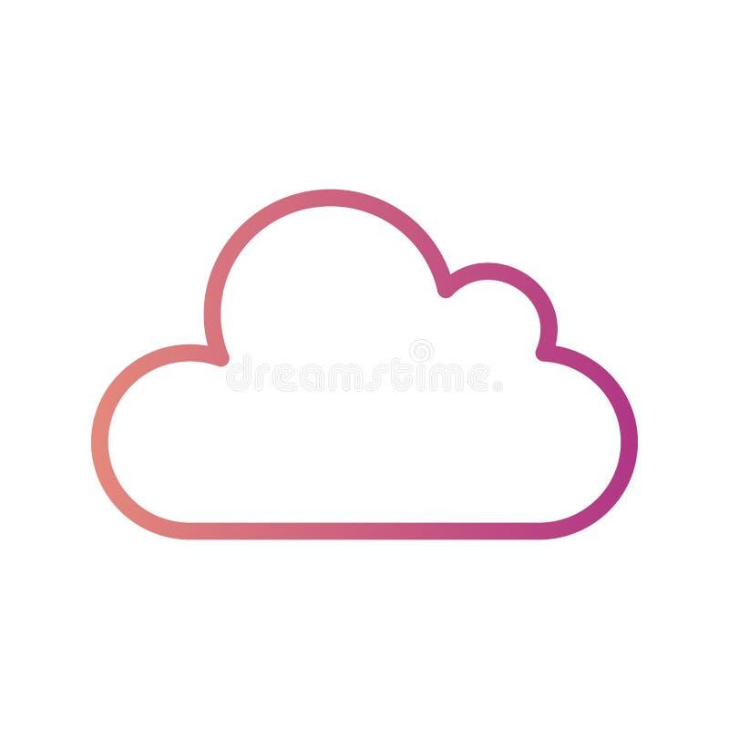 Ícone do vetor da nuvem ilustração royalty free