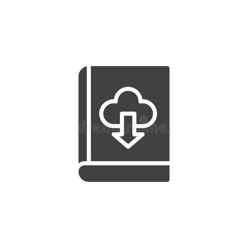 Ícone do vetor da nuvem da transferência do livro ilustração do vetor