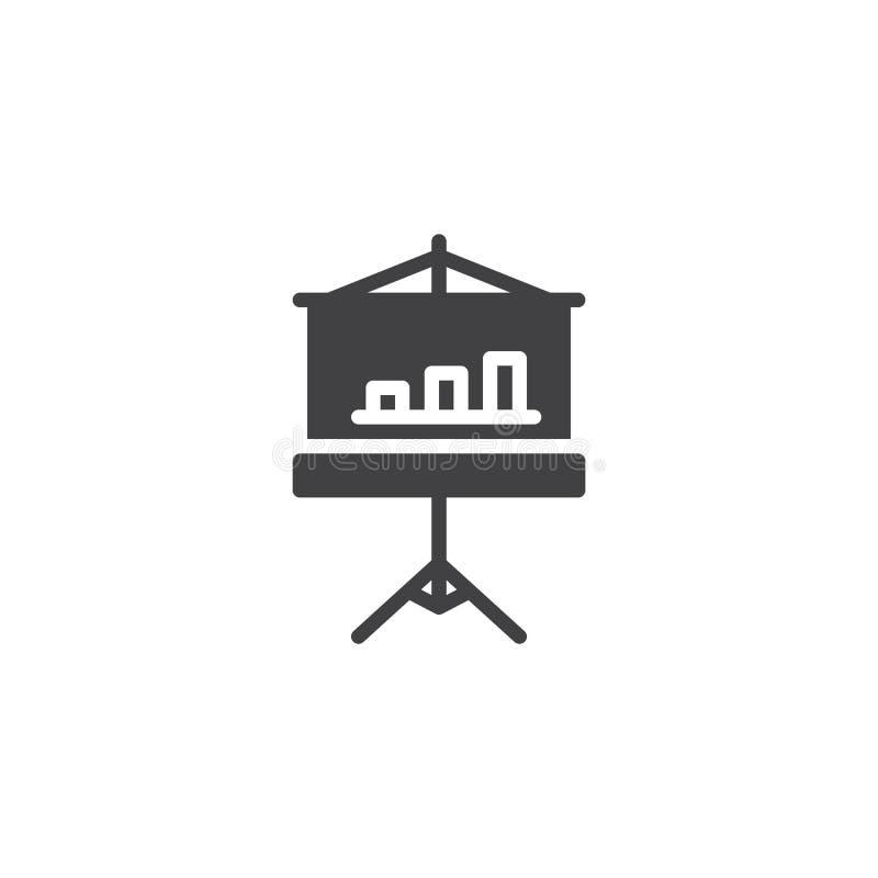 Ícone do vetor da placa do diagrama ilustração stock