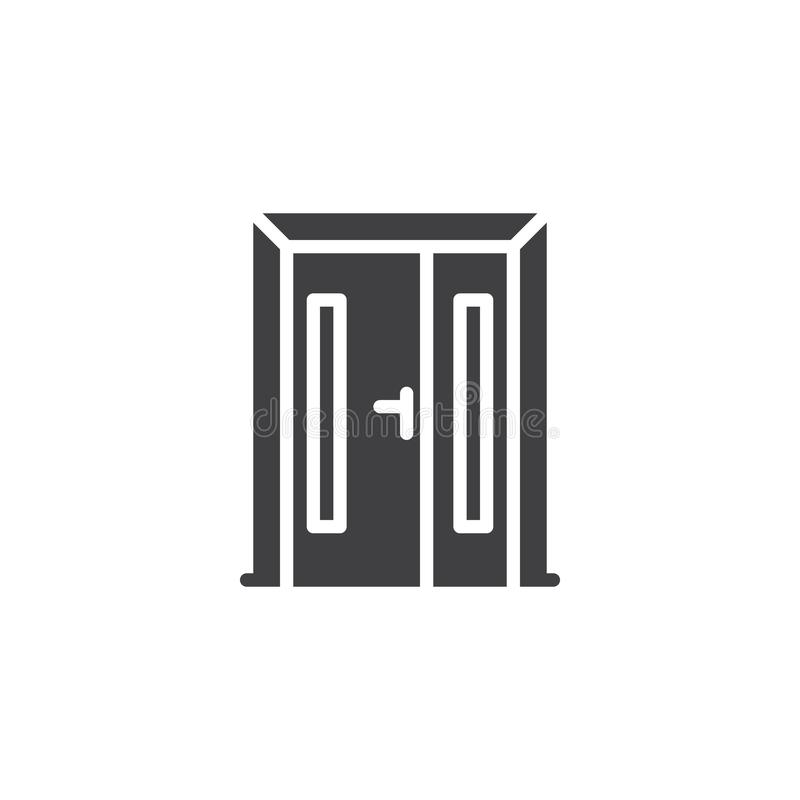 Ícone do vetor da porta de entrada ilustração stock
