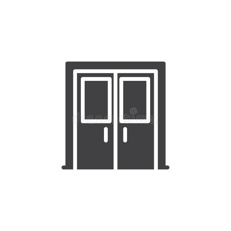 Ícone do vetor da porta de entrada ilustração royalty free