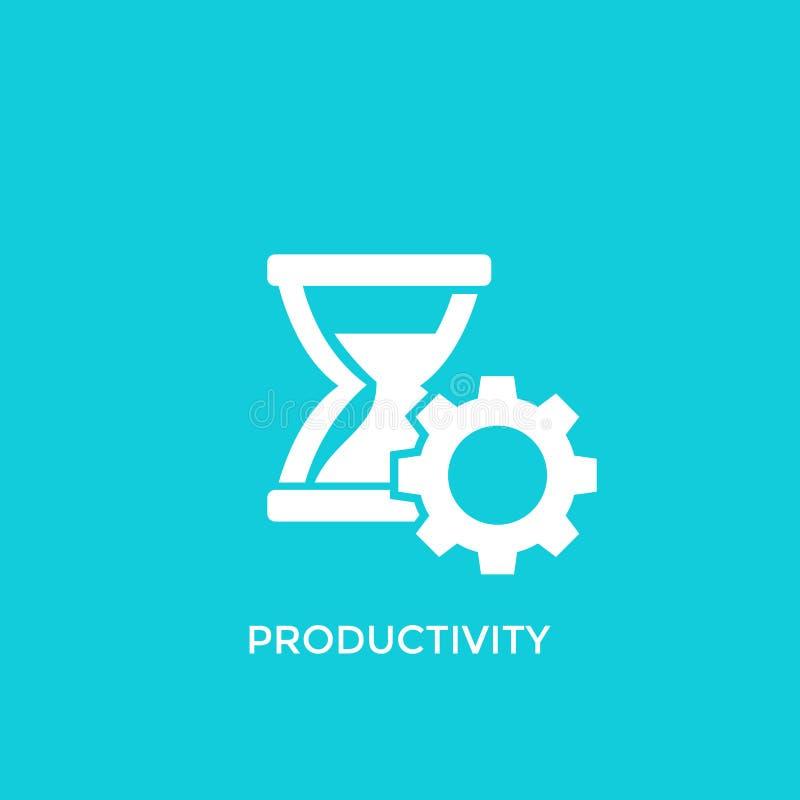 Ícone do vetor da produtividade ilustração stock